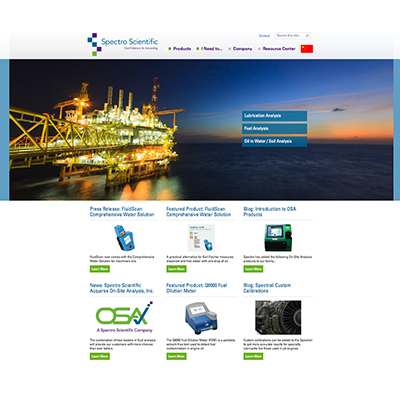 Spectro Landing Page